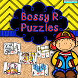 Bossy R Word Work Puzzles (R Controlled Vowel Phonics Activities)