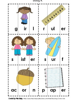 Bossy R Puzzles- r controlled vowel sounds