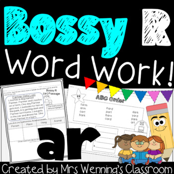 Bossy R Pack! R-Controlled Vowel ar! A Week of Lesson Plans and Word Work!