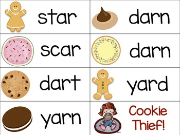 Bossy R Game (R Controlled Vowels): Cookie Thief