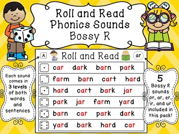 Bossy R Roll and Read Reading Fluency Centers