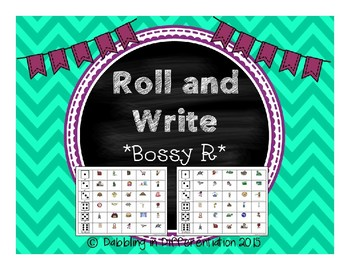 Bossy R Roll and Write Freebie