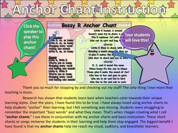 Bossy R Song (r-controlled Vowels) Anchor Chart and Chant Audio - King Virtue