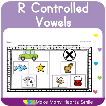 Bossy R Sorting Worksheets MHS53