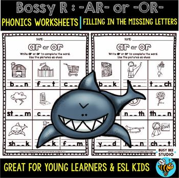 Bossy R Sorts -ar, -or | Missing Letters Worksheets