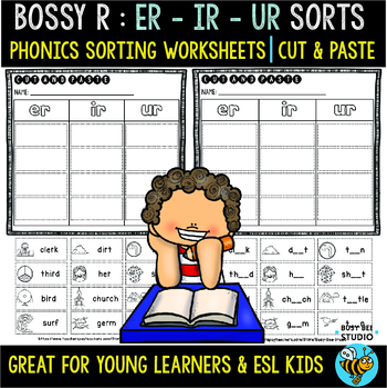 Bossy R Sorts -er, -ur, ir | Cut and Paste Worksheets
