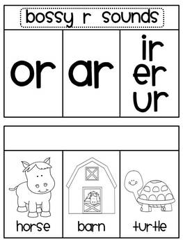 Bossy R (r controlled vowels)