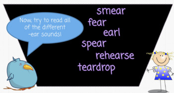 Bossy R: Sounds of -ear: Orton Gillingham Lesson