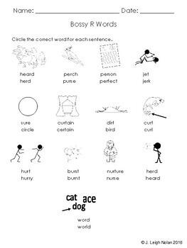 Bossy R Spelling Practice