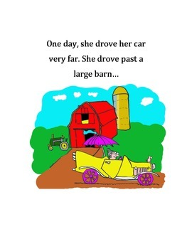 Bossy R Story and Activity - Gloria Goes for a Drive