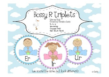Bossy R Triplets - er, ir, ur and Other Literacy Activities