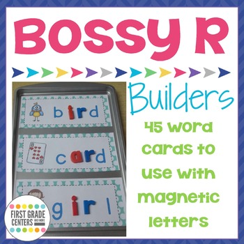 Bossy R: Word Building Mats (R Controlled Vowels)