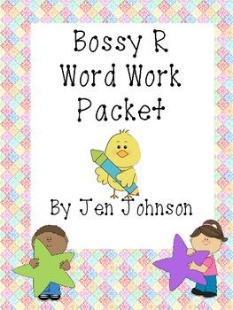Bossy R Word Work Packet