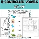 Bossy R Word Work (R-Controlled Vowels, AR/OR), Grades 1-2