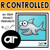 AR Bossy R Word Work Phonics Printables (R Controlled)