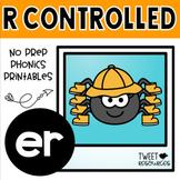 ER Bossy R Word Work Phonics Printables