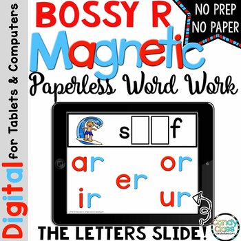 Bossy R Word Work for PowerPoint Use (Digital Hands-On Pho