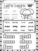 OR Bossy R Word Work Phonics Printables (R Controlled)