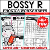 Bossy R Worksheets ~ Busy Bodies No Prep Printables