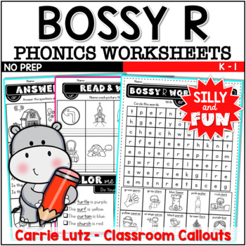 Bossy R Worksheets | R Controlled Vowels Distance Learning