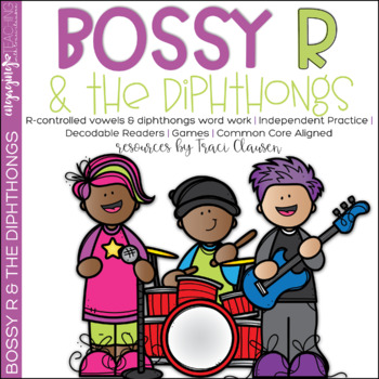 Bossy R and the Diphthongs - Reading Vowels & Phonics Acti