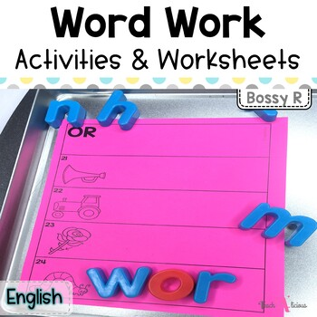 Bossy R (-ar, -er, or) Spelling Activities | Word Work Stations