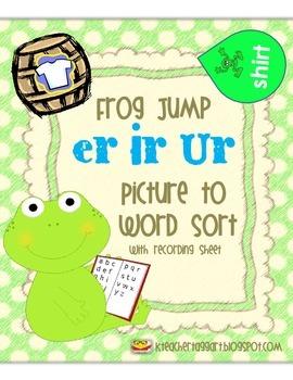 Sort Bossy R Frog Jump (er, ir, ur)