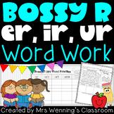 Bossy R (er, ir, ur) Bundle! 3 Weeks of Lesson Planners, Activities & Word Work!
