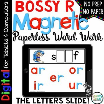 Bossy R Word Work - Paperless Phonics for R Controlled Vowels