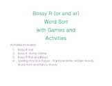 Bossy R(or and ar) Word Sort with Games and Activities
