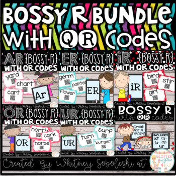 Bossy R with QR Codes *Bundle* (R-Controlled Vowels)