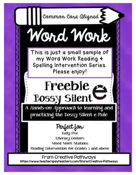 Long Vowels, Vowels, Bossy e, Silent e, Long Vowel Freebie