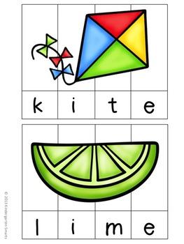 CVCe Literacy Puzzles
