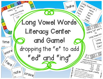 """Adding ed & ing to Long Vowel """"Bossy E"""" Words"""