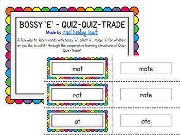 Bossy 'e' Quiz, Quiz, Trade