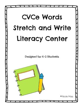 Bossy e (Silent e) Writing Words - Literacy Center