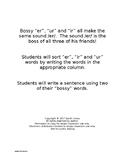 Bossy /er/ Word Sort and Sentence Writing