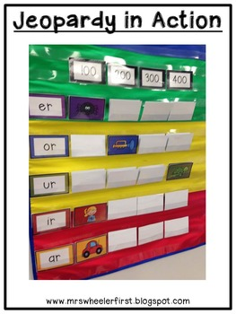 First Grade Phonics: Bossy r Jeopardy