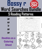 R Controlled Vowels: Bossy r Worksheets ur, or, ir, er, ar Phonics Word Searches
