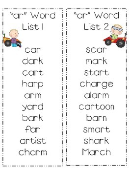 "Bossy ""r"" and many more word lists"