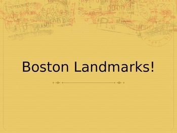 Boston Landmarks PPT