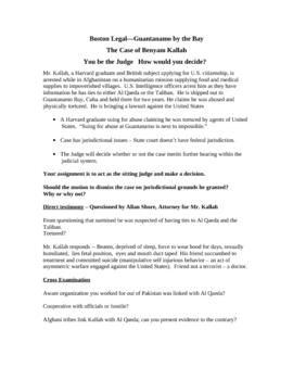 Boston Legal  Guantanamo Bay Benyam Kallah