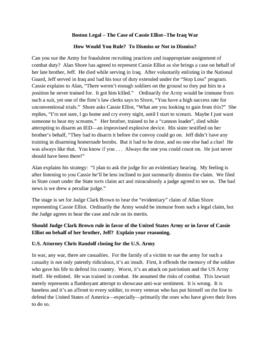 Boston Legal  The Iraq War - The Case of Cassie Elliot