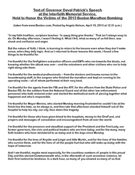 Boston Marathon Bombing Reflection