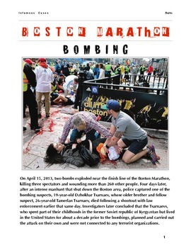 Boston Marathon Bombing w/key