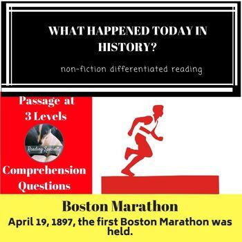 Boston Marathon Differentiated Reading Passage April 19