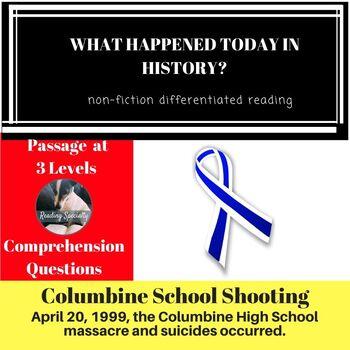 Columbine Differentiated Reading Passage April 20