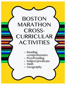Boston Marathon Running Cross Curricular Activities