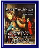 Boston Massacre, Boston Tea Party, First Continental Congress
