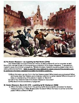 Boston Massacre DBQ Primary Resource activity